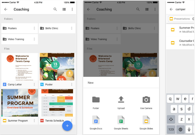 Google-Drive iOS productivity apps for iPhone and iPad