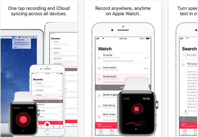 Just-Press-Record iOS productivity apps for iPhone and iPad