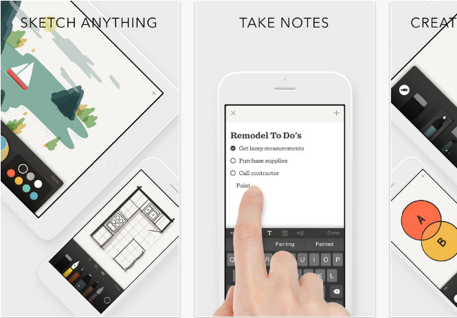 Paper-by-FiftyThree iOS productivity apps for iPhone and iPad