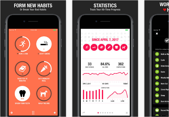 Streaks iOS productivity apps for iPhone and iPad