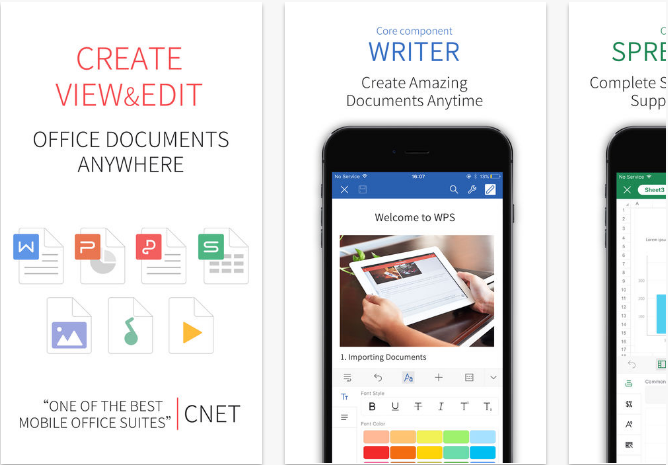 WPS-Office iOS productivity apps for iPhone and iPad