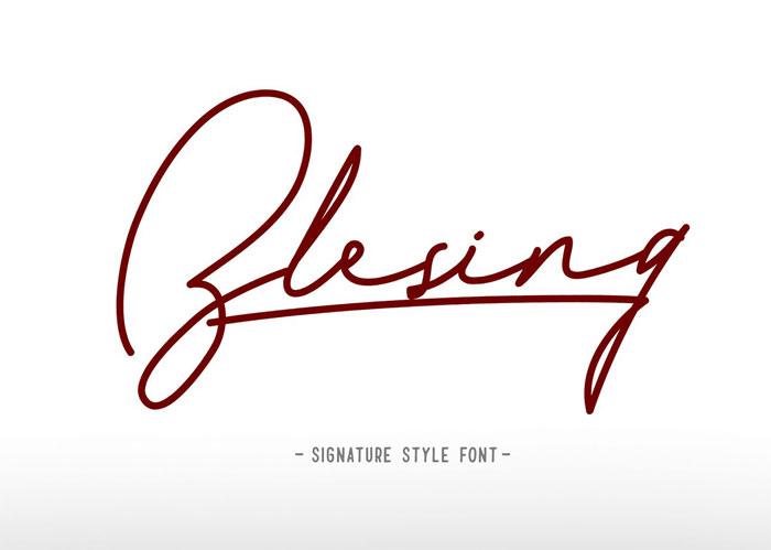 Blesing Signature Style Font Examples Pick The Best Autograph