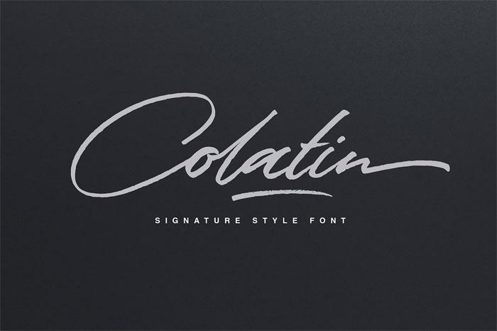 Colatin Script Signature Font Examples Pick The Best Autograph