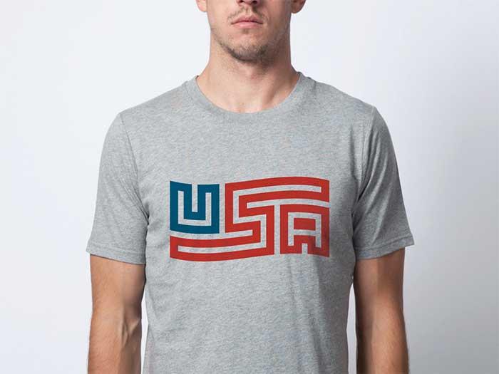 flag_usa_shirt t shirt design ideas that will inspire you to design a t shirt - White T Shirt Design Ideas