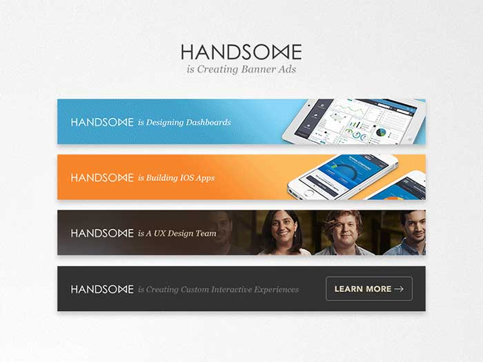 handsomebannerads banner ads creative web banner design ideas to inspire you - Banner Design Ideas