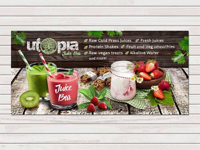 mockup banner juice bar banner ads creative web banner design ideas to - Banner Design Ideas