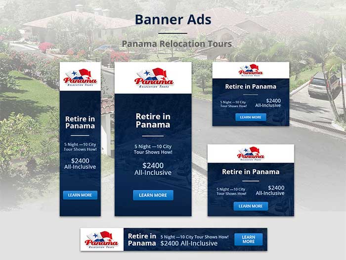Panama_dribbble Banner Ads: Creative Web Banner Design Ideas To Inspire You