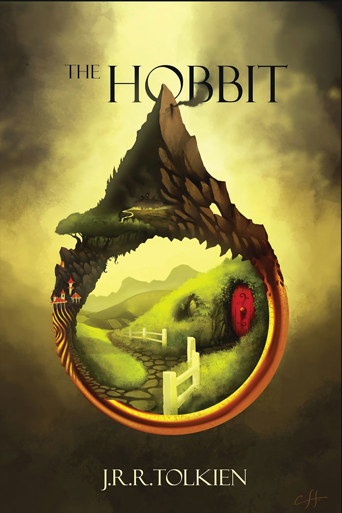 The Hobbit Old Book Cover ~ Book cover design ideas layout fonts and how to create one