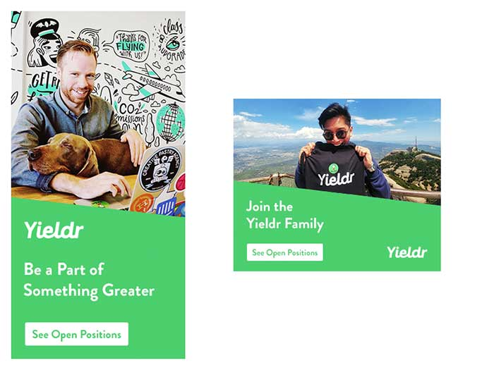 Yieldr Hire Banner Ads: Creative Web Banner Design Ideas To Inspire You