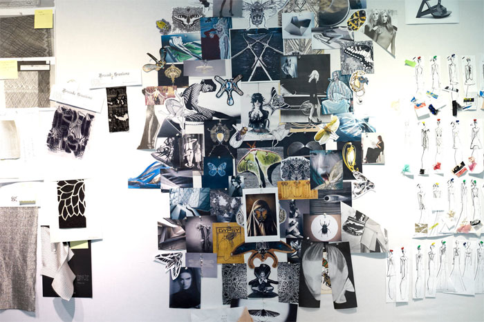 An example of a physical mood board