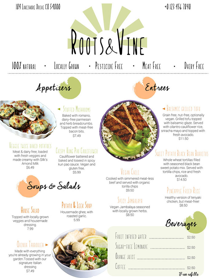 restaurant menu design how to make a menu with a great layout