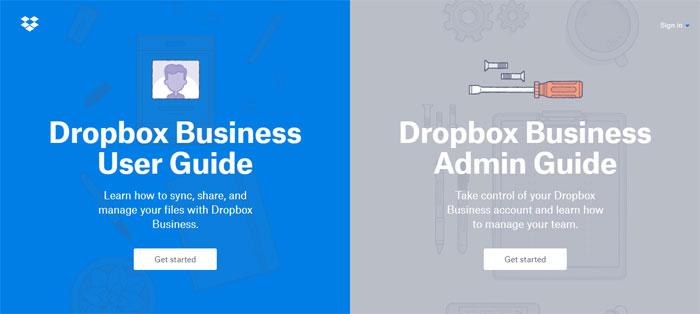 Dropbox Creating B2B Websites: Tips and showcase of B2B website design