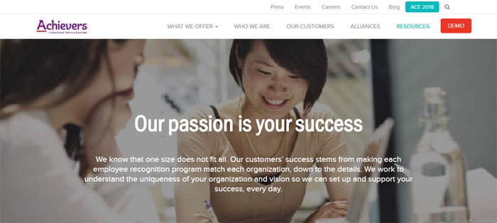 achievers Creating B2B Websites: Tips and showcase of B2B website design