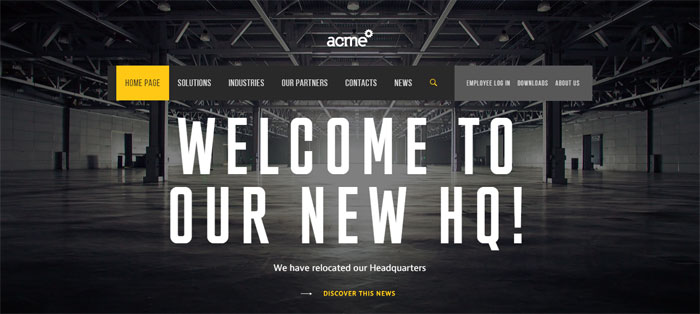 acme-world.com_ Creating B2B Websites: Tips and showcase of B2B website design
