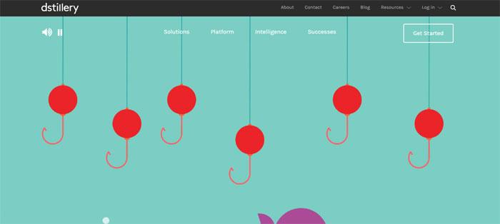 dstillery.com_ Creating B2B Websites: Tips and showcase of B2B website design