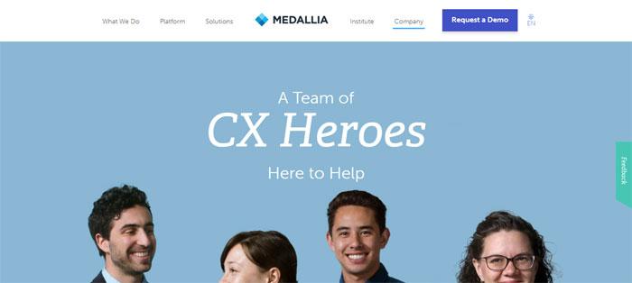 medallia.com_services_ Creating B2B Websites: Tips and showcase of B2B website design