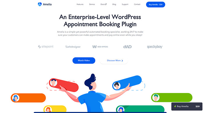 wpamelia 44 Website Header Design Examples and What Makes Them Good
