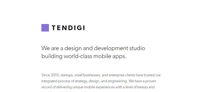 Tendigi Some of the best app development companies that you can find