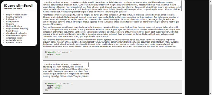 jQuery Scrollbar plugins you should use