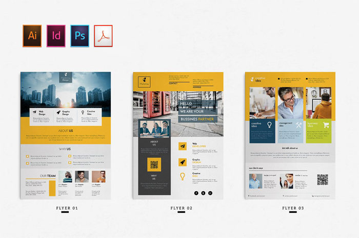 02--700x466 43 Flyer templates you should download for your clients