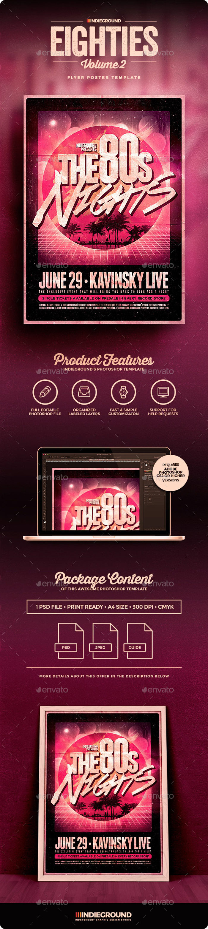 80sVol2_Flyer_Preview-700x3114 43 Flyer templates you should download for your clients