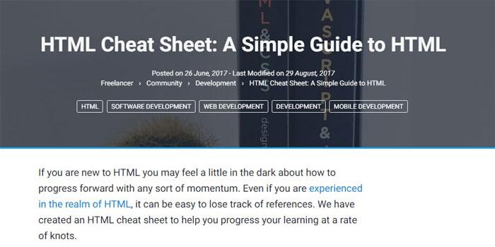 CSS, HTML, JavaScript cheat sheets