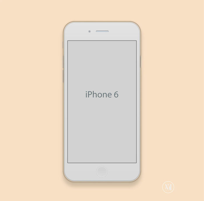 Apple-Iphone-6-Mockup iPhone mockup templates to download for presenting your designs