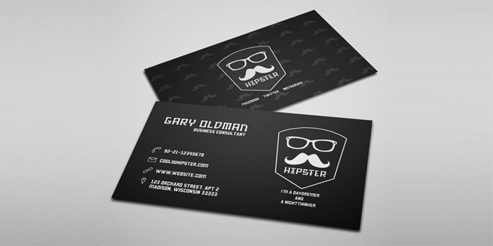 Free-Hipster-Business-Card--700x350 Free business card templates you can download today