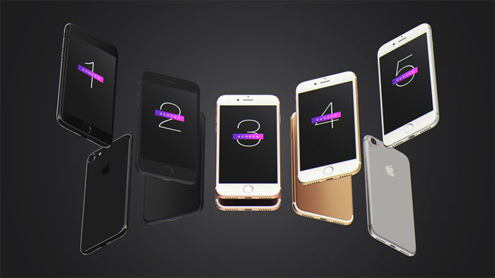 Free-iPhone-7-UI-Mockup-PSD iPhone mockup templates to download for presenting your designs