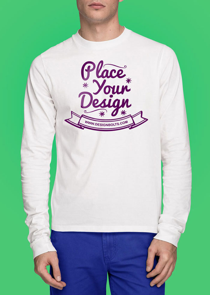 Free-white-tshirt-mockup-ps 82 FREE T-Shirt Template Options For Photoshop And Illustrator