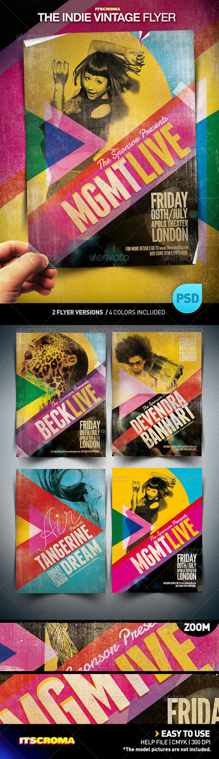 The-Indie-Vintage-preview-700x2427 43 Flyer templates you should download for your clients
