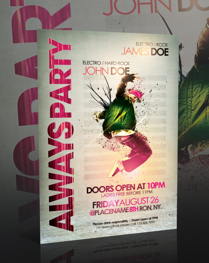always_party_flyer__psd__by-700x879 43 Flyer templates you should download for your clients
