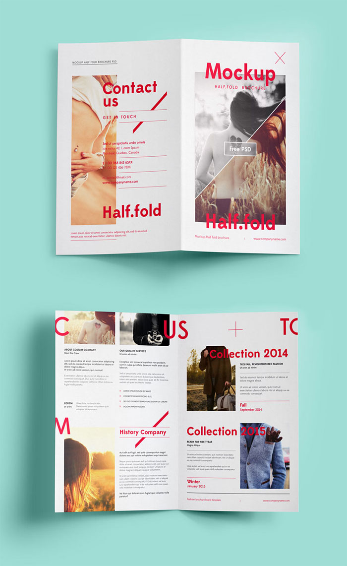 bi fold mockup template free brochure templates to use for creating your brochure