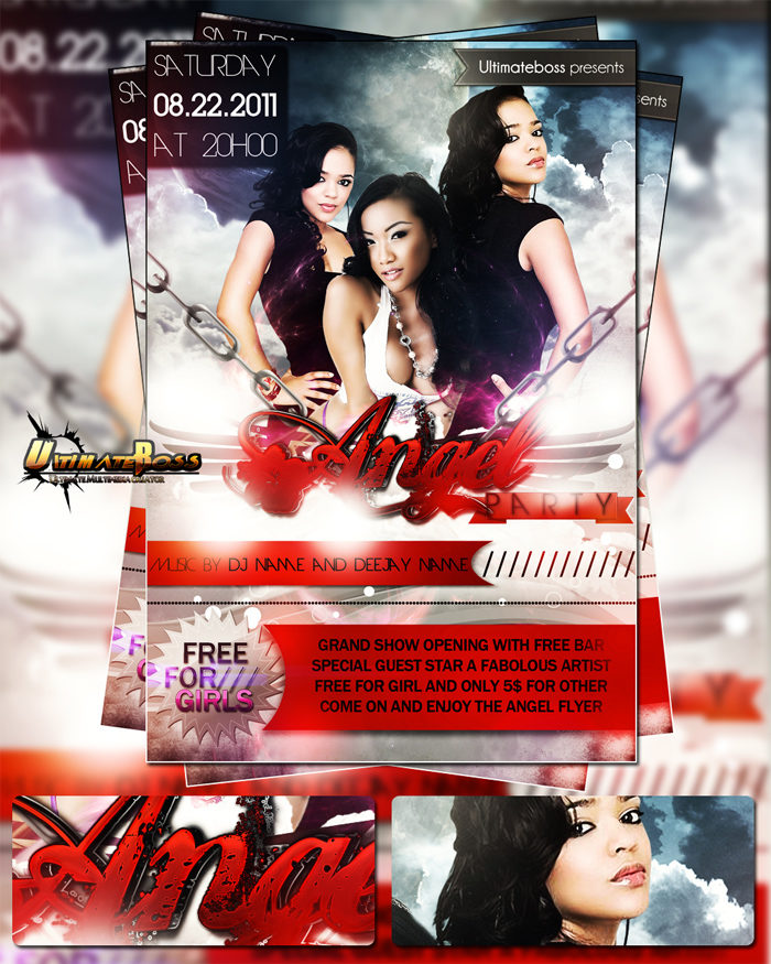 free_psd_angel_party_flyer_-700x875 43 Flyer templates you should download for your clients