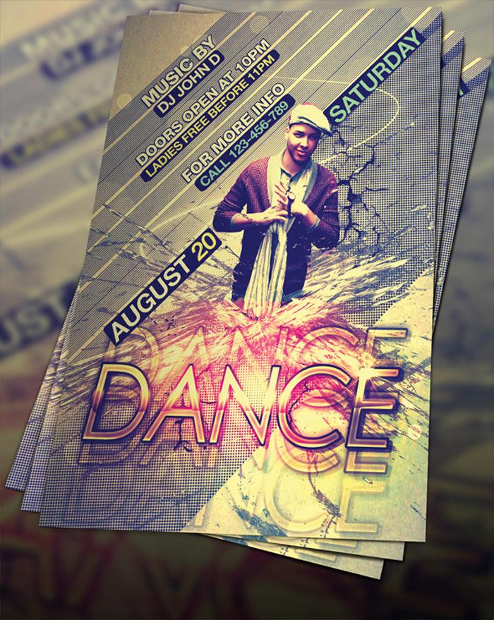 free_psd_dance_flyer_by_fly-700x879 43 Flyer templates you should download for your clients