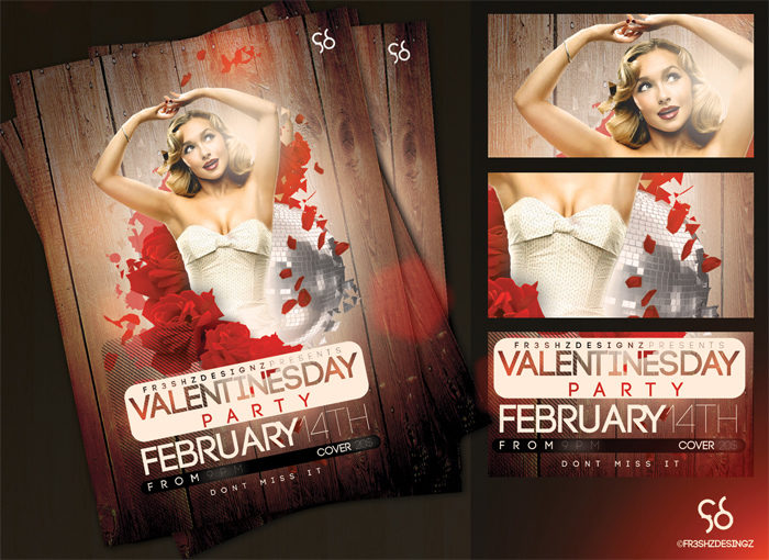 free_v__day_flyer_sample_by-700x510 43 Flyer templates you should download for your clients