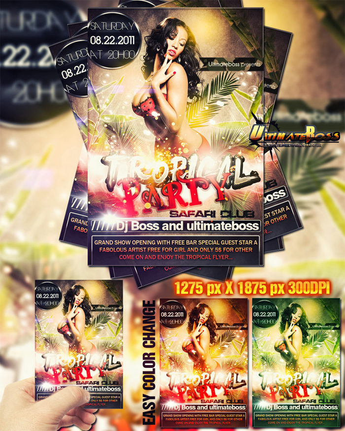 freemium_tropical_party_fly-700x875 43 Flyer templates you should download for your clients