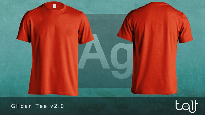 gildan_tee_v2_0_by_theappar 82 FREE T-Shirt Template Options For Photoshop And Illustrator