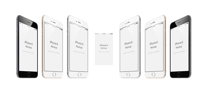 iPhone-6-Free-angled-PSD-Mo iPhone mockup templates to download for presenting your designs