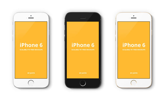 iPhone-6-Scalable-Mockups-4 iPhone mockup templates to download for presenting your designs