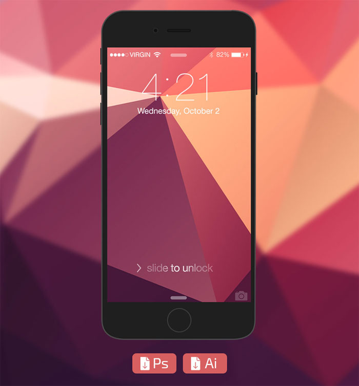 iPhone6-Flat-Mockup iPhone mockup templates to download for presenting your designs