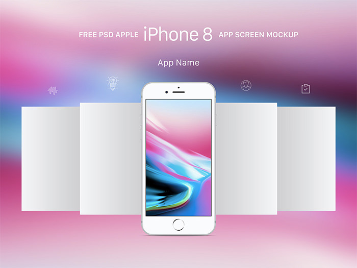 iphone-8-app-mobile iPhone mockup templates to download for presenting your designs