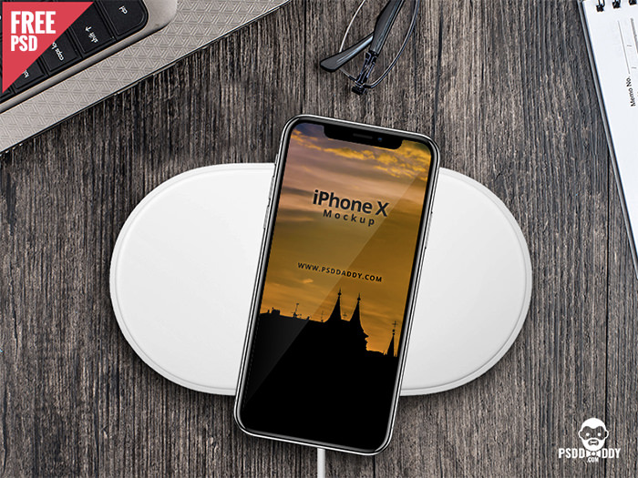 iphone-x-table iPhone mockup templates to download for presenting your designs