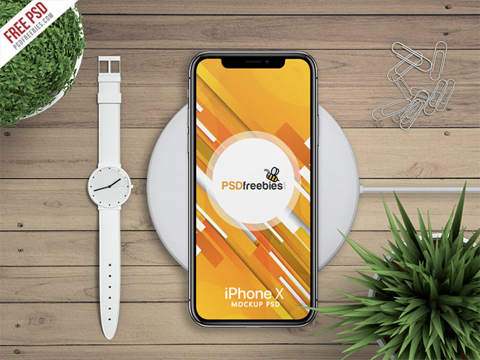 iphone-x-watch iPhone mockup templates to download for presenting your designs