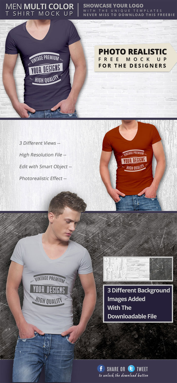premium-quality-v-neck-t-sh 82 FREE T-Shirt Template Options For Photoshop And Illustrator