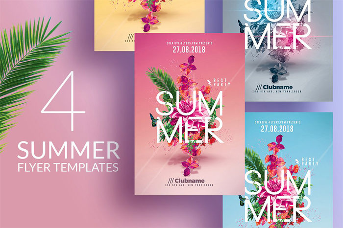 summer-flyer--700x466 43 Flyer templates you should download for your clients