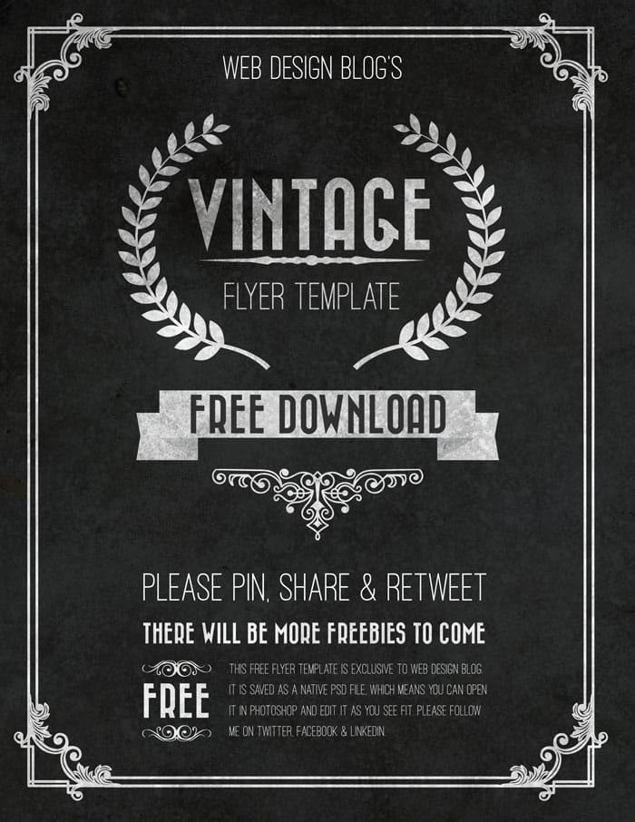 vintage_flyer_wdb-700x906 43 Flyer templates you should download for your clients