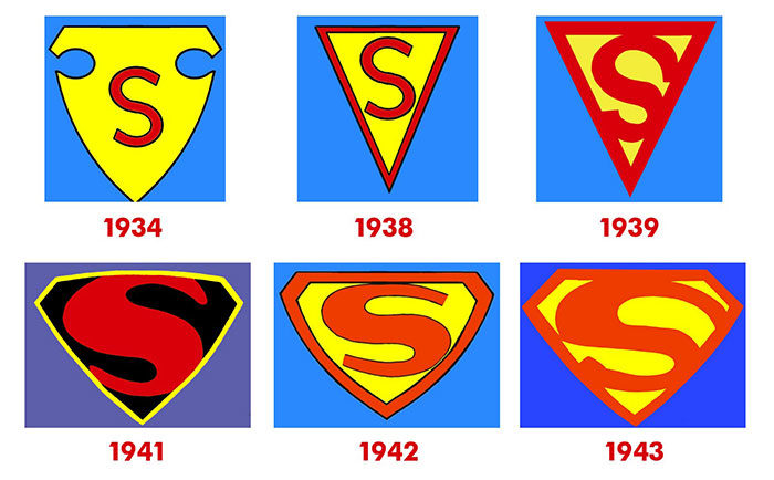 A Look At The Superman Logo Over The Years