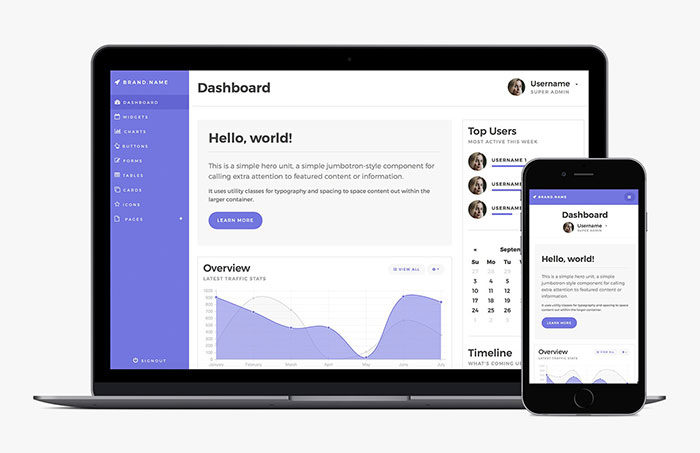 bootstrap-4-admin-dashboard-template-700x453 Free dashboard templates to download and use for a web app
