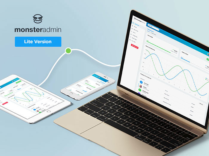 monster-admin-lite-ws-700x525 Free dashboard templates to download and use for a web app